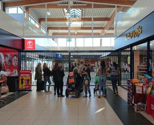 schaarhek tegen overlast in winkelcentrum enschede